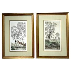 Pair Of Pencil Signed Limited Edition Lithographs