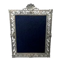 Large Vintage Gilt Metal Picture Frame