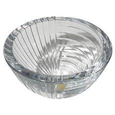 Vintage Sasaki Striad Crystal Bowl