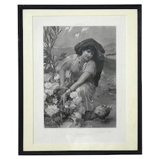 Photogravure Titled Souvenir Of Themcen By F.A. Bridgman, 1889