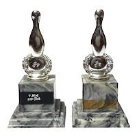 Pair Of Mid-Century Vintage Bowling Trophies