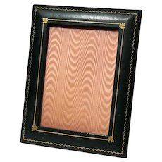 Vintage Italian Tooled Leather Picture Frame