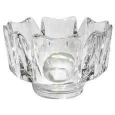 Orrefors Crystal Corona Bowl By Lars Hellsten