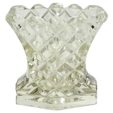Early Vintage Pressed Glass Toothpick Holder