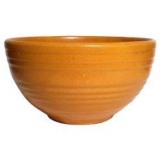 Large Vintage McCoy Orange Pottery Bowl