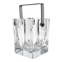 Mid-Century Modern French Crystal Ice Bucket