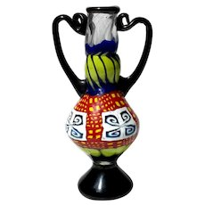 Murano Glass Handled Vase