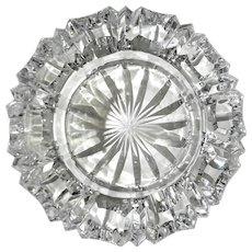 Czechoslovakian Cut Crystal Ashtray