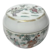 Antique Chinese Round Porcelain Box
