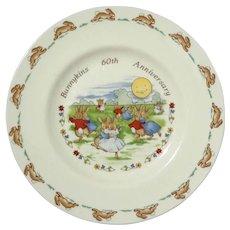 Royal Doulton Bunnykins 60th Anniversary Plate