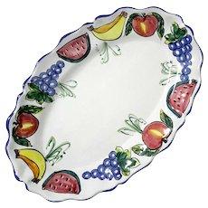 Vietri Italian Pottery Fruit Platter