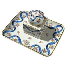 Dresden Porcelain Inkwell