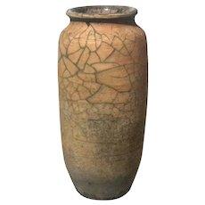 Vintage Raku Art Pottery Vase