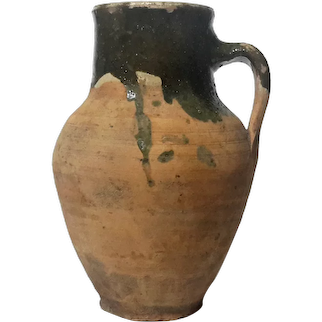 Antique French Earthenware Jug