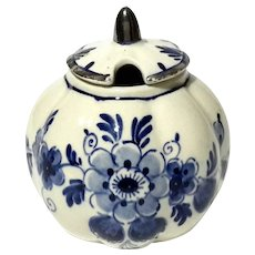 Vintage Delft Condiment Jar
