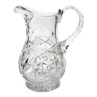 Early Vintage Cut Crystal Pitcher