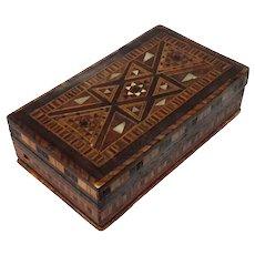 Antique Persian Hand Inlaid Wood Box