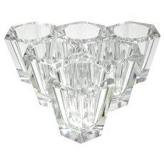 Set Of Six Baccarat Crystal Shot Glasses