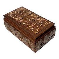 Decorative Carved Teak Wood Box
