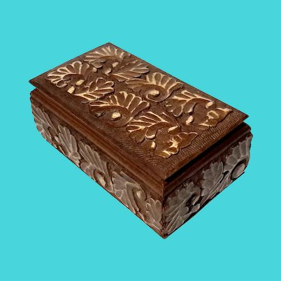 Decorative Carved Teak Wood Box