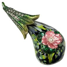 Jeweled And Enameled Art Glass Paperweight