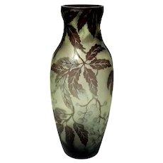 Large Cameo Glass Vase