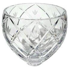 Large Lenox Cut Crystal Bowl