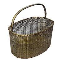 Vintage Brass Basket
