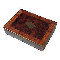Antique Brass Trimmed Wood Box