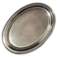 English Sheffield Small Silverplate Footed Tray