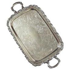 Oneida Silverplate Handled Serving Tray