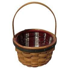 2005 Longaberger Holiday Helper Basket