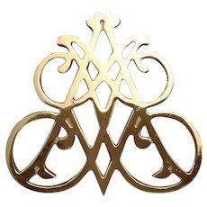 Virginia Metalcrafters Andrew Jackson Cypher Brass Trivet