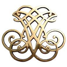 Virginia Metalcrafters Thomas Jefferson Cipher Brass Trivet