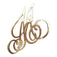 Virginia Metalcrafters Ash Lawn Highland Brass Trivet