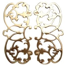 Virginia Metalcrafters Monticello Two Piece Brass Trivet