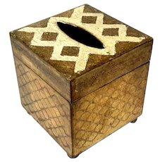 Florentine Gilt Wood Tissue Box Holder