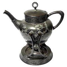 James Tufts Quadruple Plate Teapot On Stand