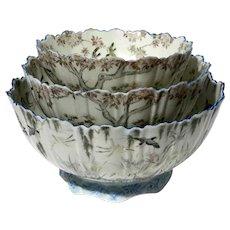 19th Century Japanese Kutani Porcelain Nesting Bowls