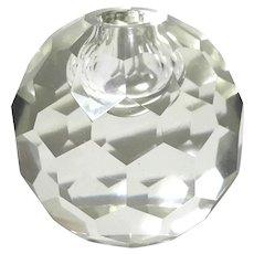 Cut Crystal Bud Vase Paperweight