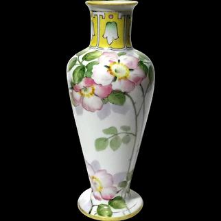 Hand-Painted Nippon Japanese Porcelain Vase