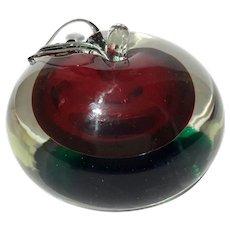 Murano Glass Apple Paperweight