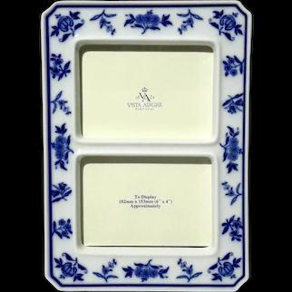 Vista Alegre Portuguese Porcelain Picture Frame