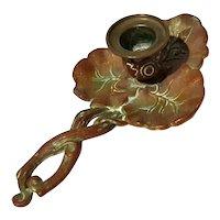 Brass Lotus Leaf Chamberstick