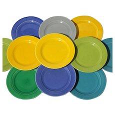 Set Of Twelve Homer Laughlin Harlequin Desert Plates