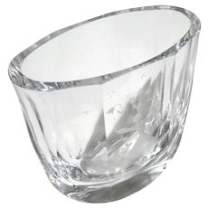 Orrefors Crystal Vase Etched With Girl And Flowers