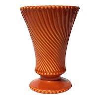 Mid-Century Modern Vintage Orange McCoy Pottery Vase