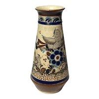 Large Signed Gardiel Mexican Tonala Pottery Vase