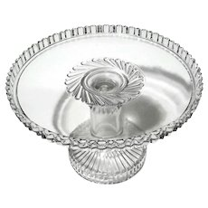 Early American Pattern Glass Pedestal Cake Stand