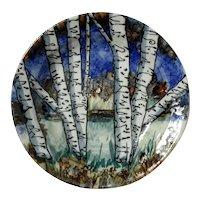 Signed Barbara Haring Studio Art Pottery Plate